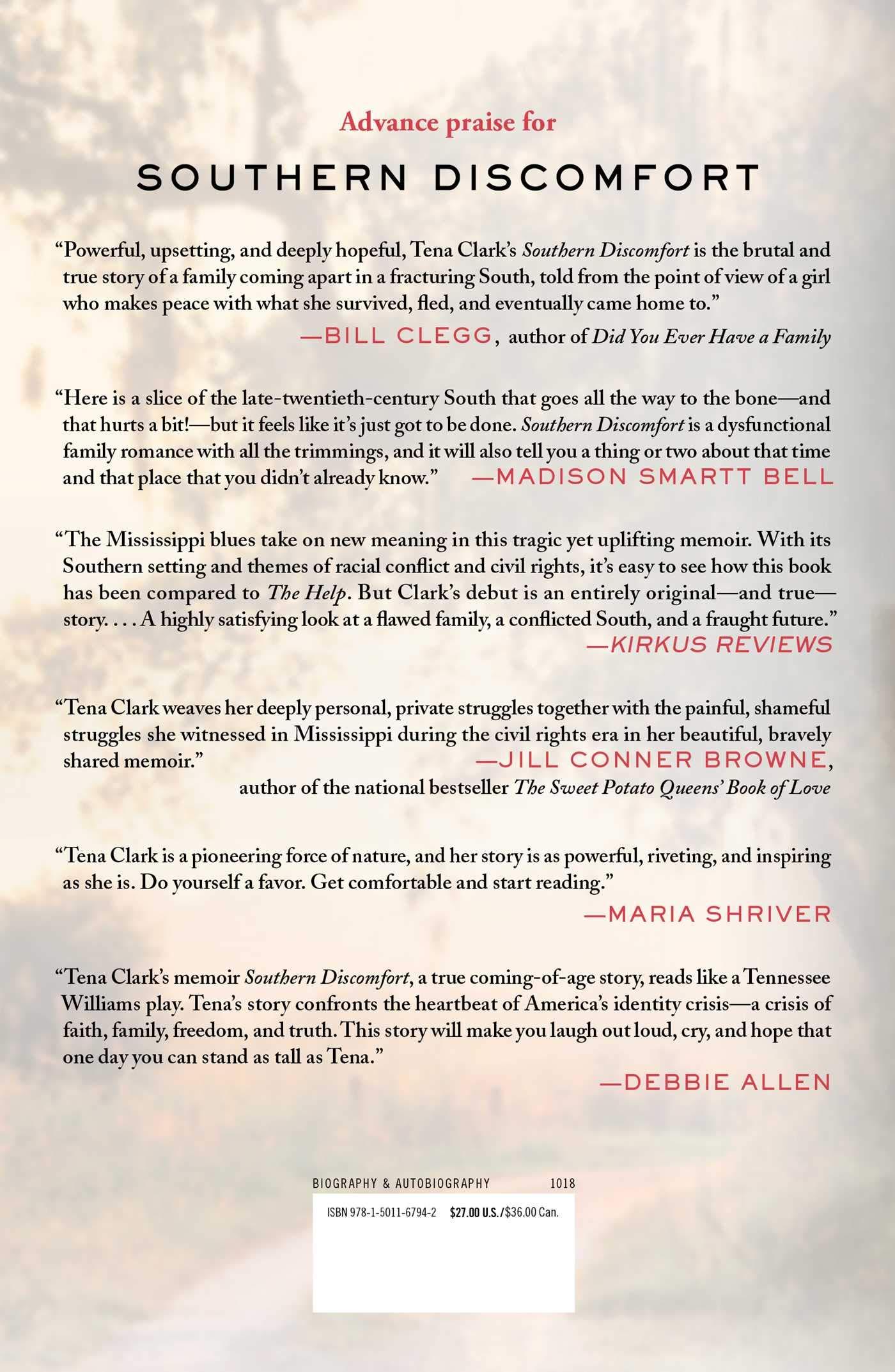 Southern Discomfort: A Memoir: Tena Clark: 9781501167942 ...