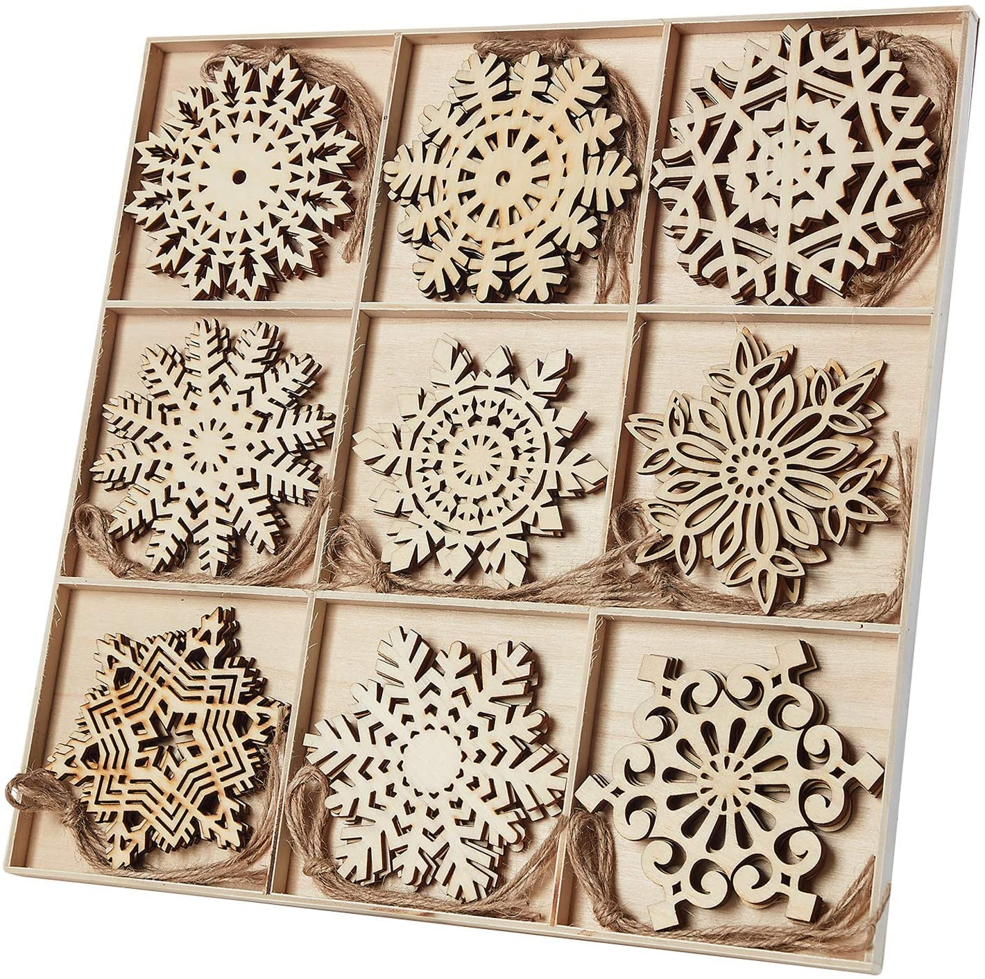 Free Amazon Promo Code 2020 for 7pcs Wooden Snowflakes Shaped