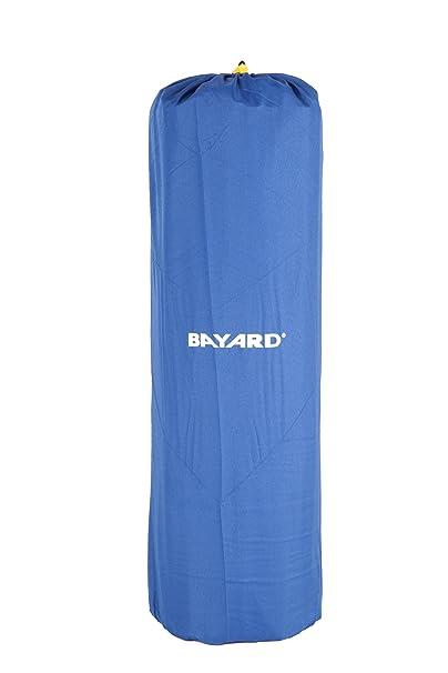 Bayard BY32 - Esterilla de Camping Aislante y autohinchable con Funda Impermeable, Color Azul y Negro
