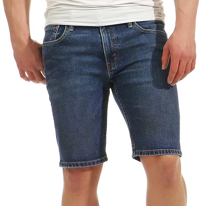 Levis Hombre Pantalones cortos de mezclilla 511 Slim Hemmed Trippin, Azul, ...