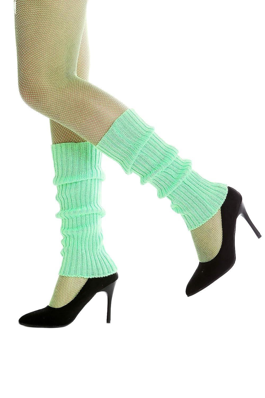 DRESS ME UP W-020A-green Stulpen Beinw/ärmer Beinstulpen im 80er Jahre Stil gr/ün Aerobic