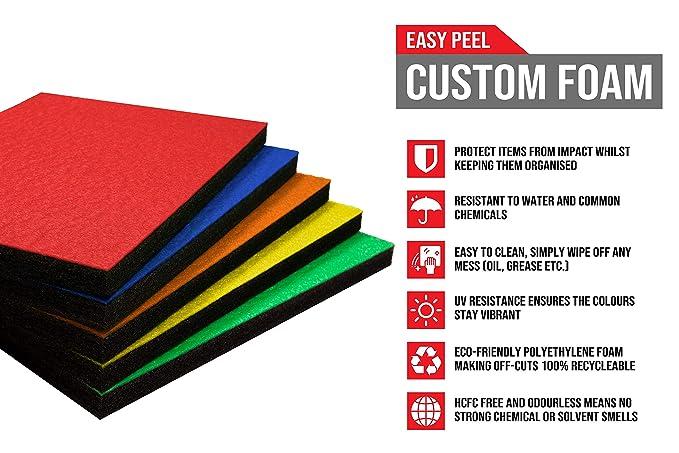 Shadow Foam Easy Peel (600mm x 420mm) | espuma personalizable para ...