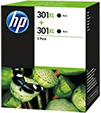 HP 301XL 2-pack High Yield Black Original Ink Cartridges (D8J44AE)
