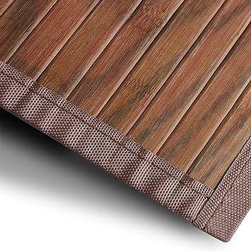 Bambusteppich Magenta (Braun) | für Bad und Wohnzimmer | natürlich ...