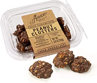 product image for Asher's Chocolates, Gourmet Chocolate Covered Clusters, Peanuts Covered in Milk Chocolate, Small Batches of Kosher Chocolate, Family Owned Since 1892, 6oz (Milk Chocolate, Peanut Clusters)