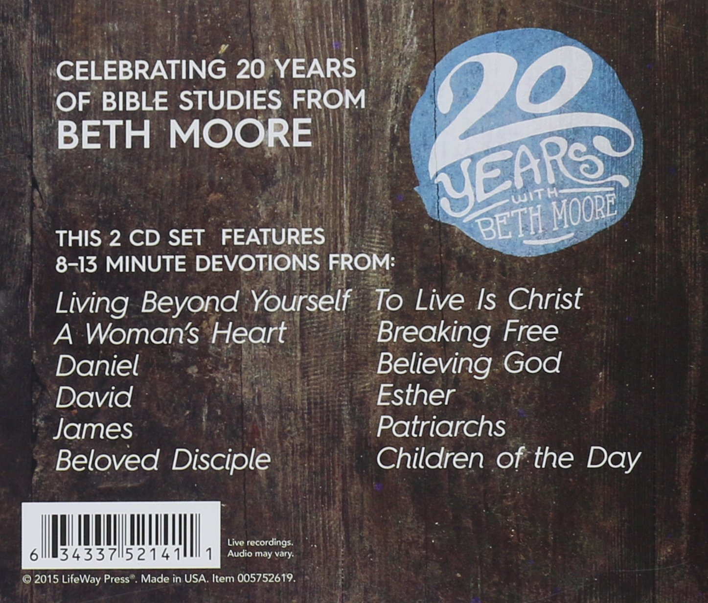 Devotions from Beth Moore 20th Anniversary Collection: Beth Moore:  9781430043362: Amazon.com: Books