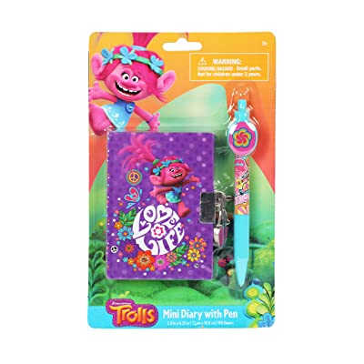 Trolls Universal Mini Purple Diary with Special Pen for Girls: Toys & Games