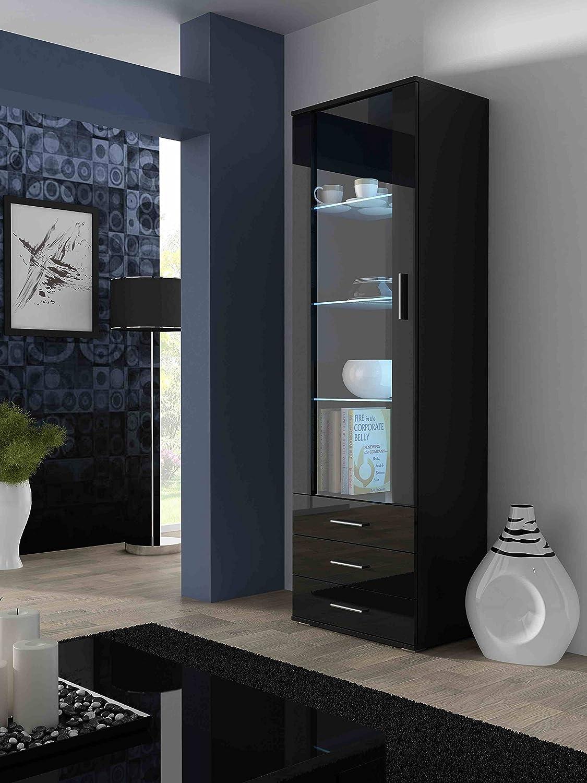 BMF SOHO   STANDING DISPLAY CABINET   BLACK TALLBOY: Amazon.co.uk: Kitchen  U0026 Home