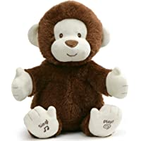 """Baby GUND Animated Clappy Monkey Singing and Clapping Plush Stuffed Animal, Brown, 12"""""""