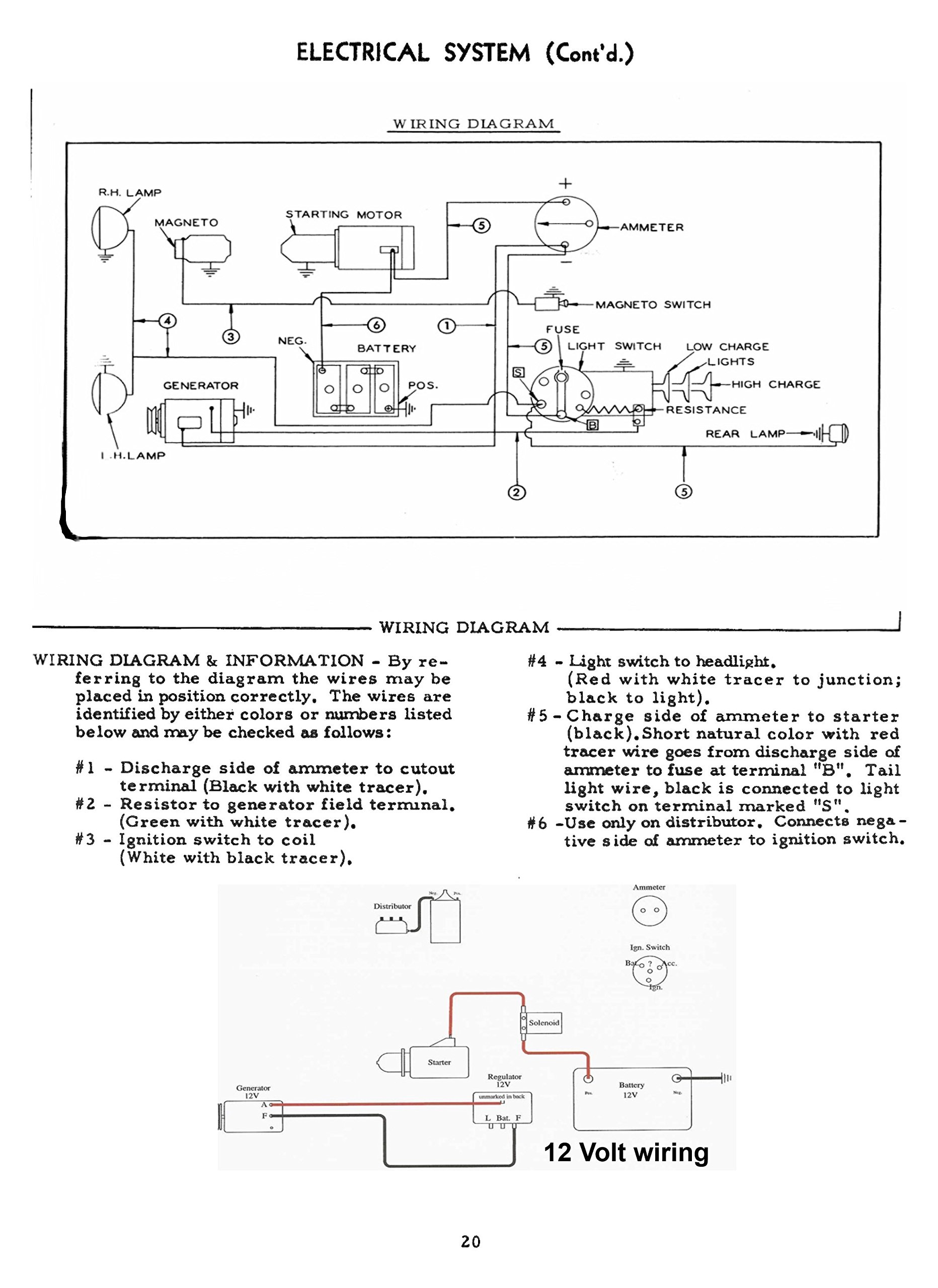 Allis Chalmers Wd 12 Volt Wiring Diagram | Wiring Liry on