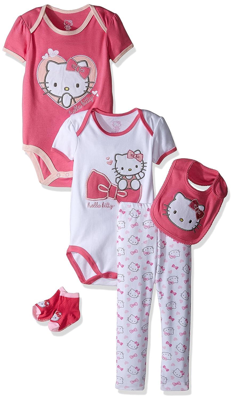 Amazon Hello Kitty Baby Core Bodysuit Bib Pant Bootie 5 Piece