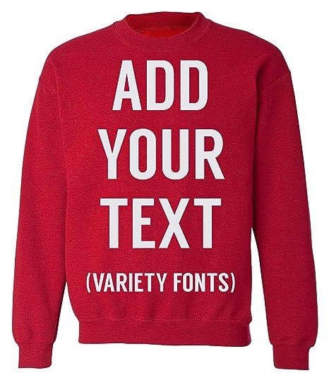 Amazoncom Maventee Men Women Custom Crewneck Sweatshirt Add Your
