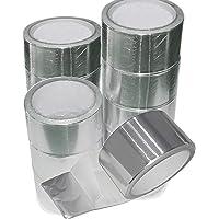 5 rollen industriële aluminium tape Alu aluminium tape 50 mm