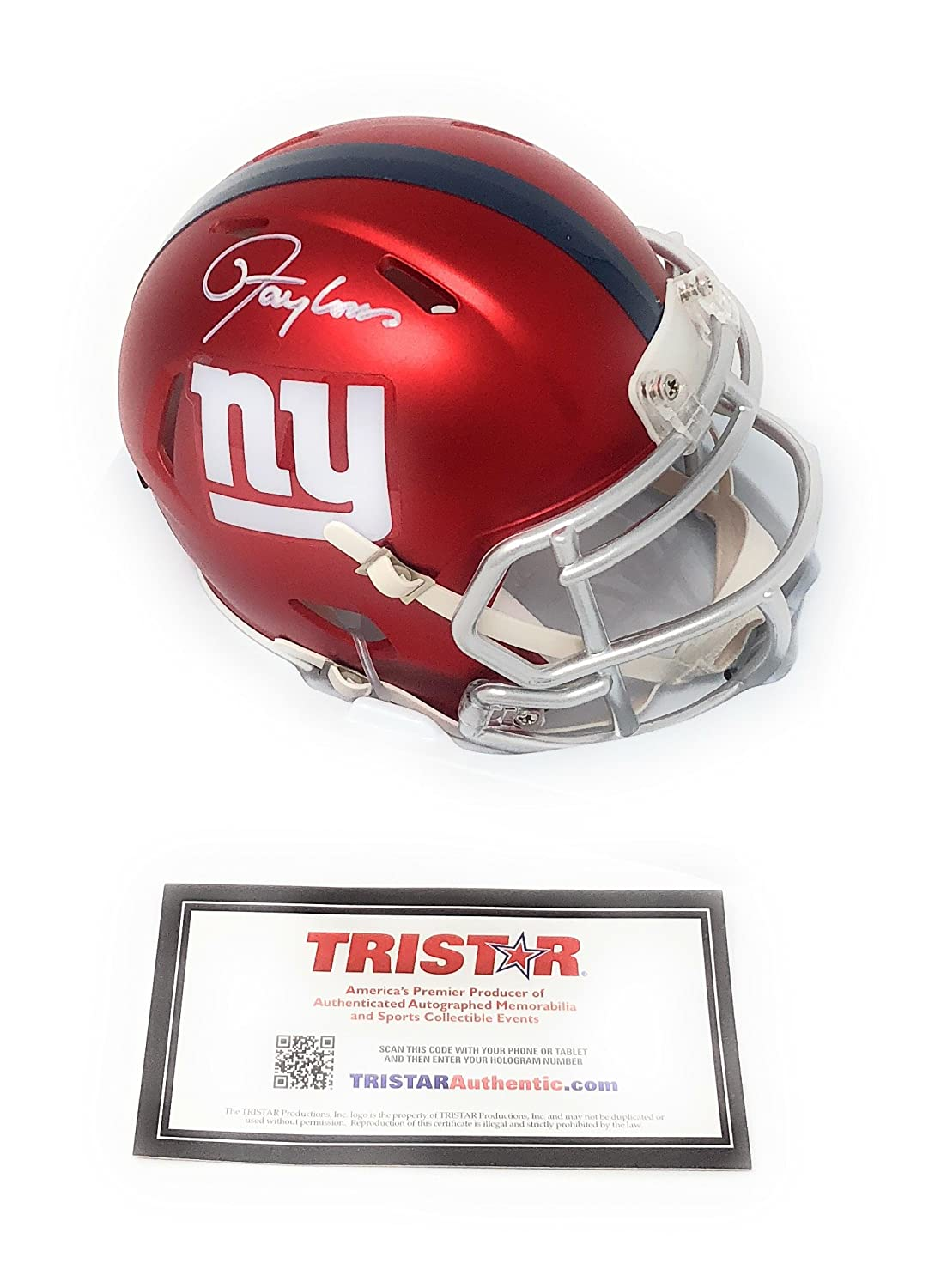 Lawrence Taylor New York Giants Signed Autograph Blaze Mini Helmet Tristar Authentic Certified