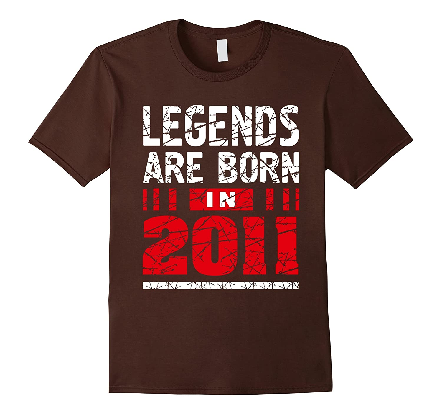 6 years old 6th Birthday B-day Gift Legends 2011 T Shirt-TD