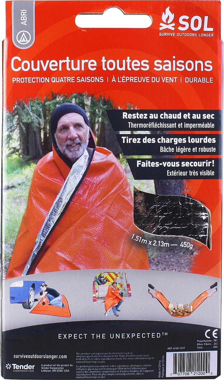 Sol All Season Blanket Couverture Toutes Saisons Mixte Adulte, Orange SOL03|#SOL 0140-1200