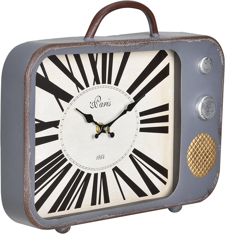 en.casa] Reloj de Pared Decorativo televisor - con Pantalla ...