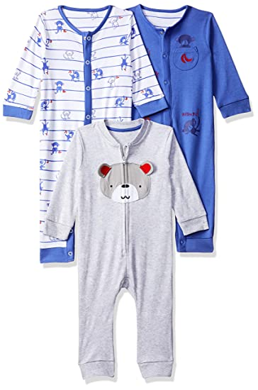 a8fb99203d07 Mothercare Baby Boys  Romper Suit (Pack of 3)  Amazon.in  Clothing ...