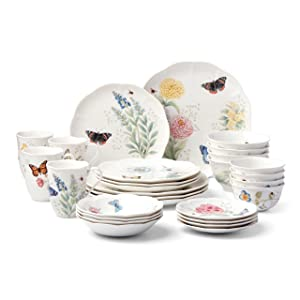 Lenox® Butterfly Meadow® Classic Dinnerware 28-Piece Set  sc 1 st  Ceramic Cookware & Top 5 Best Ceramic Dinnerware | Buying Guide | Reviews | Comparisons ...