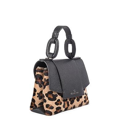 a437a016c55e Céline Dion Rococo Handle Bag Leather (Black Leopard)  Handbags  Amazon.com