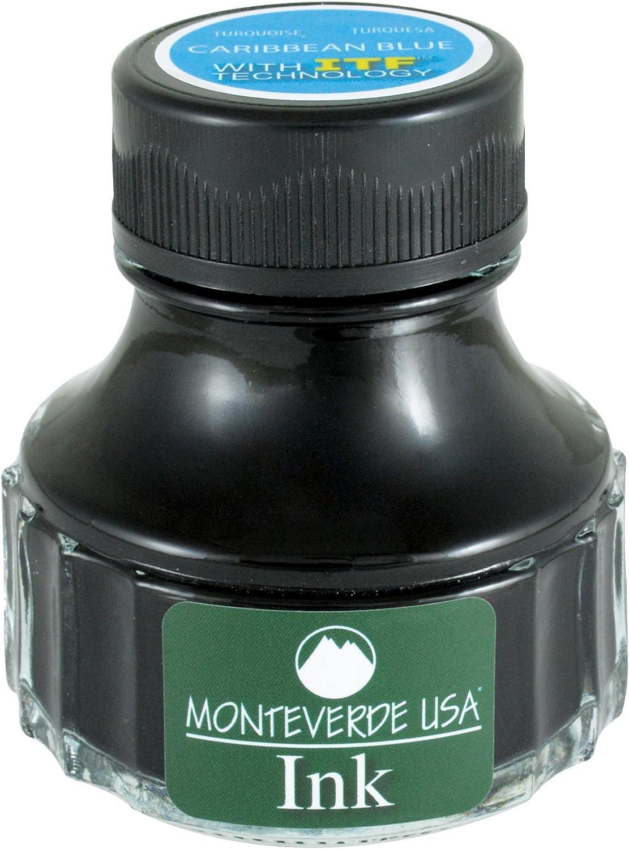 Monteverde USA Ink with ITF Technology, 90 ml Caribbean Blue (G308TQ)
