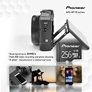 Pioneer microSD Classic with Adapter - C10, U1, Full HD Memory Card (2 Pack) (256G (2pack)) (Color: 256G (2pack))