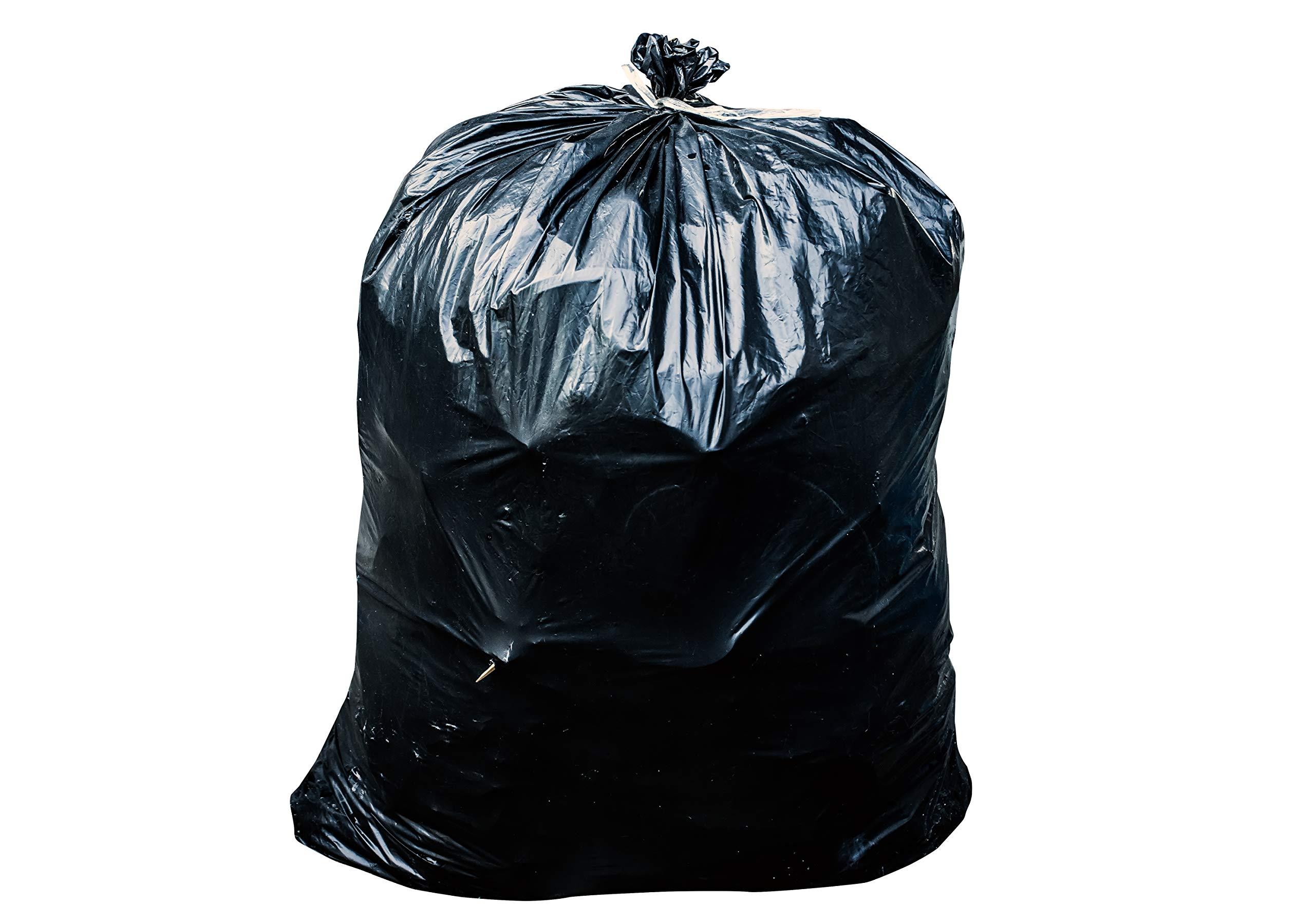 Toughbag 55-60 Gallon Contractor Trash Bags, 38''W x 58''H, 3.0 Mil (50, Black) by ToughBag