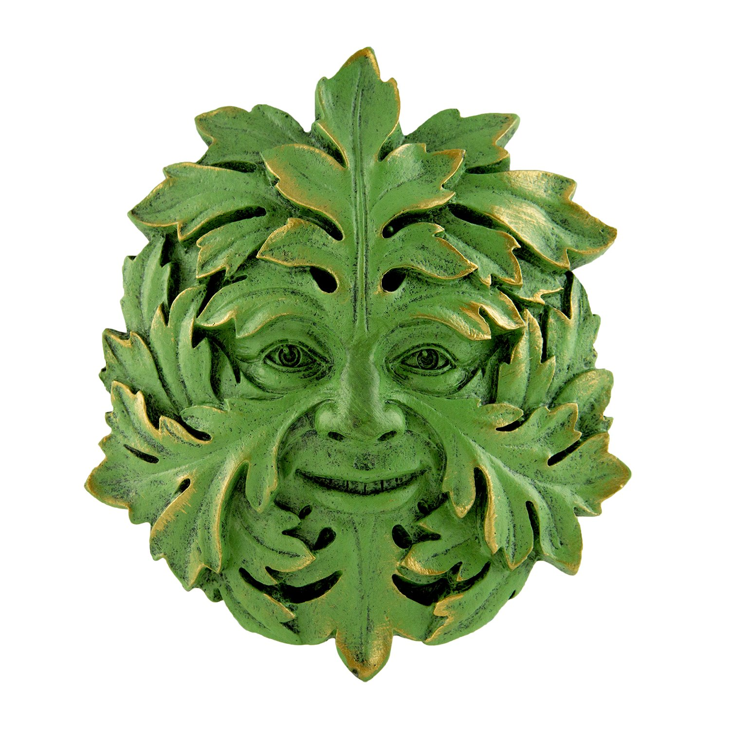 Top Collection 2405 Garden Hanging Mystic Greenman Face Plaque
