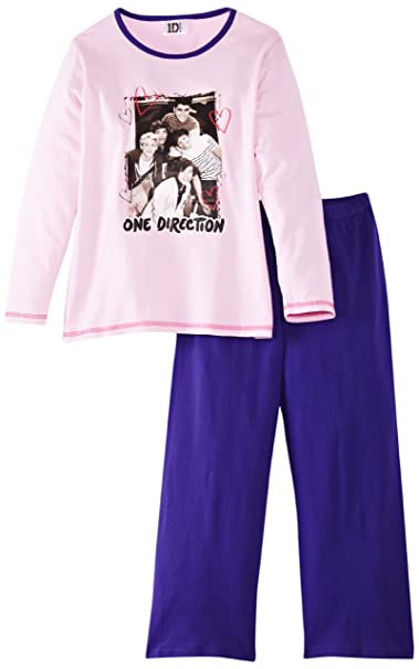One Direction - Pijama con estampado para niña, talla 4 años (4-5