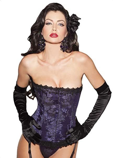 681e7c477d3 Shirley of Hollywood Women s Stunning Floral Tapestry Strapless Corset   Amazon.ca  Clothing   Accessories