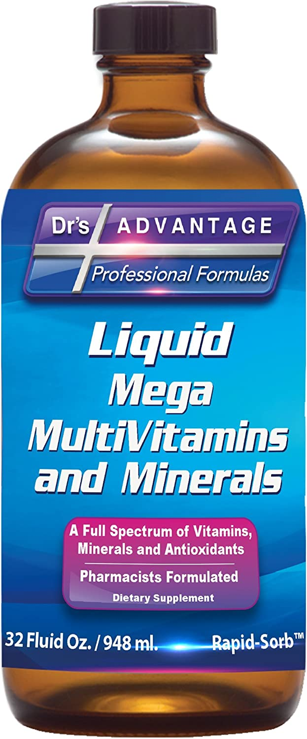 Drs Advantage – Liquid Mega MultiVitamins and Minerals 32oz Health and Beauty