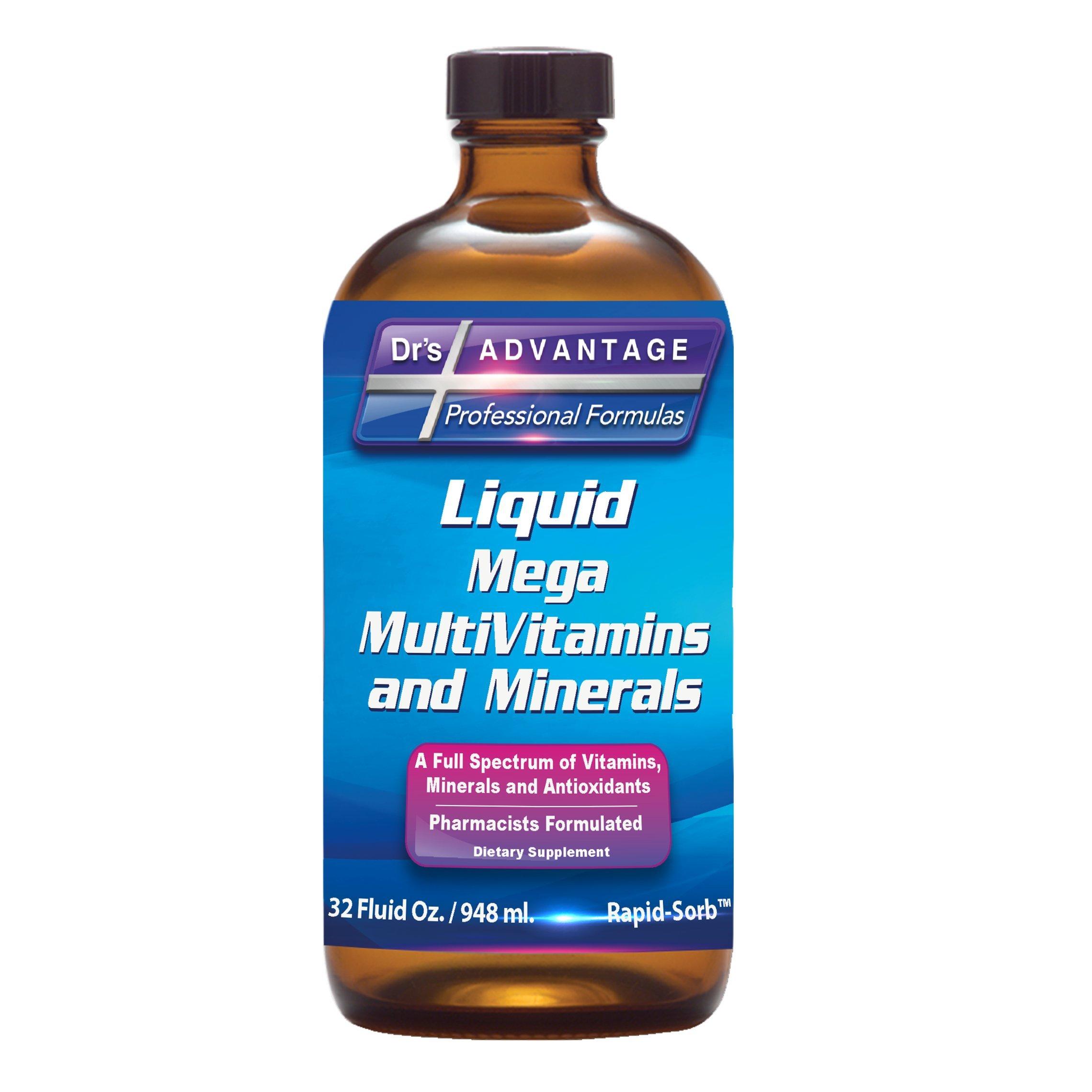 Drs Advantage - Liquid Mega MultiVitamins and Minerals 32oz [Health and Beauty]