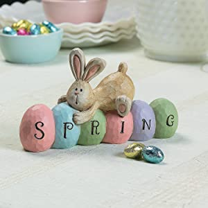 Spring Bunny Tabletopper (hand painted) Great for Easter and Home Decor