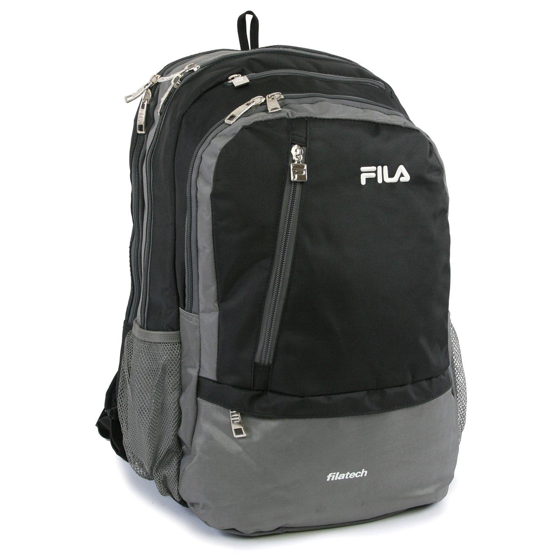 ed5648ce5a Amazon.com  Fila Duel School Laptop Computer Tablet Book Bag Backpack Black One  Size