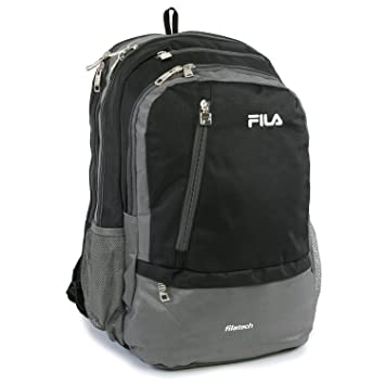 Amazon.com  Fila Duel School Laptop Computer Tablet Book Bag Backpack Black  One Size