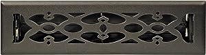 Accord Ventilation AMFRBLV214 Victorian Design Floor Register, Matte Black, 2