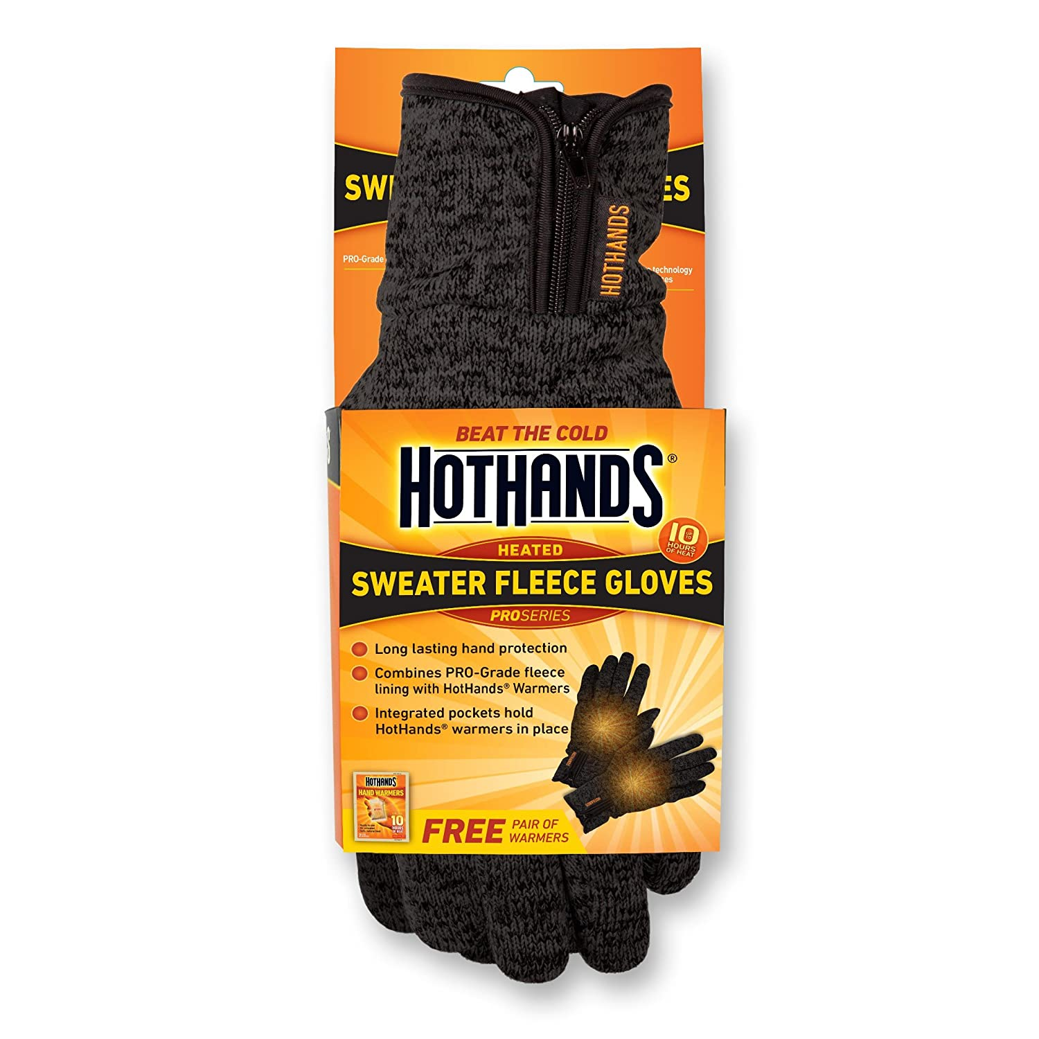 HotHands Sweater Fleece Gloves, Charcoal Grey, Large/X-Large HHGGLXL