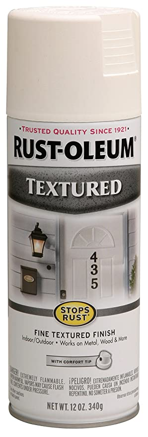 Amazoncom Rust Oleum 7225830 Textured Spray White 12 Ounce Home