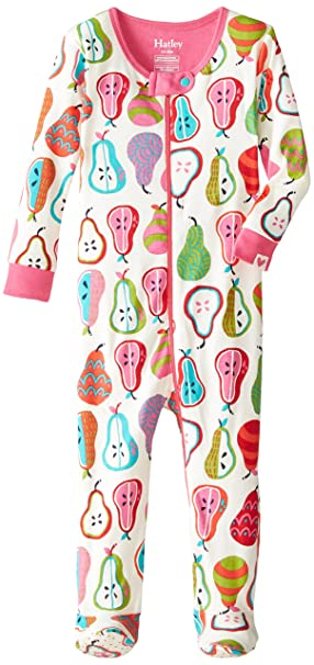 Hatley Infant Footed Coverall -Harvest Pears - Pijama para bebés, Color Blanco, Talla