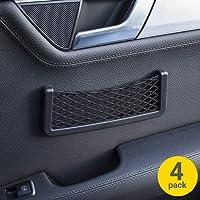 Olixar 4 Pack Car Storage Net Pocket - Smartphone Holder & Organiser - in Car Universal Mesh Design - Cargo Net - 3M…