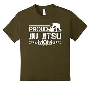 Kids Jiu Jitsu Tee Shirts - Jiu Jitsu Mom Shirt 8 Olive