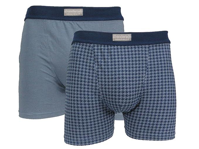 Abanderado Boxer cerrado x 2 moda, Hombre, Azul (Tamaño del fabricante:M