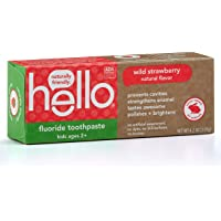 Hello Oral Care ADA Approved Fluoride Kids Toothpaste, Vegan & SLS Free, Natural Wild Strawberry Flavor, 4 Ounce