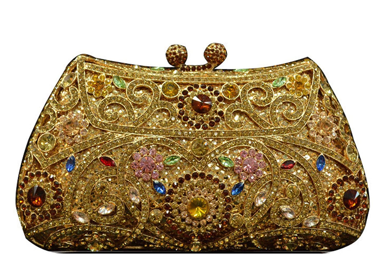 Fashiondiary Women's Luxury Rhinestone Clutch Purse