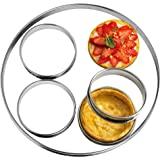 "NewlineNY Stainless Steel 5 Pcs Circular Round Tart Rings, Molding, Plating, Set of 5 : 1 x (28cm 11"") + 4 x (10cm 4"") x (2.2cm 1"" H)"