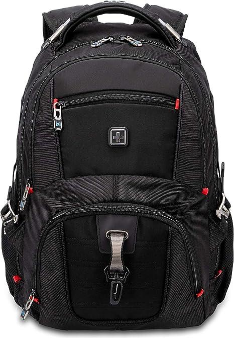 SUISSEWIN Laptop Notebook Rucksack Daypack Schulrucksack Backpack Multifunktion Business Taschen Freizeit Rucksack Arbeits Schultasche,für Herren