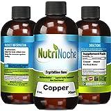 NutriNoche - Liquid Colloidal Copper - 30 PPM 8 fl oz - Nano Copper - Crystalline Purity - High Bioavailability - Colloidal Minerals (1)