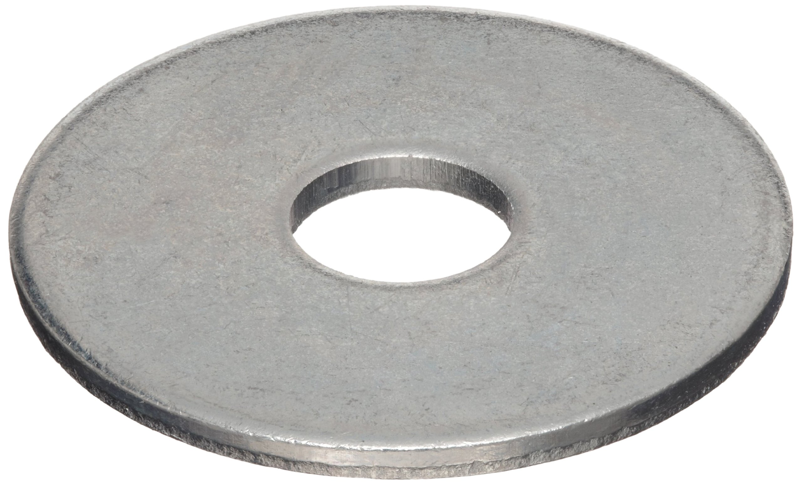 Steel Type B Flat Washer, Zinc Plated Finish, 5/16'' Hole Size, 0.406'' ID, 1.250'' OD, 0.101'' Nominal Thickness, Made in US (Pack of 25)