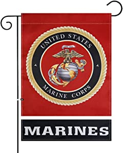 XIFAN Premium Garden Flag for US Marine Corps USMC Double Sided Small Yard House Decoration 12.5 x 18 Inch