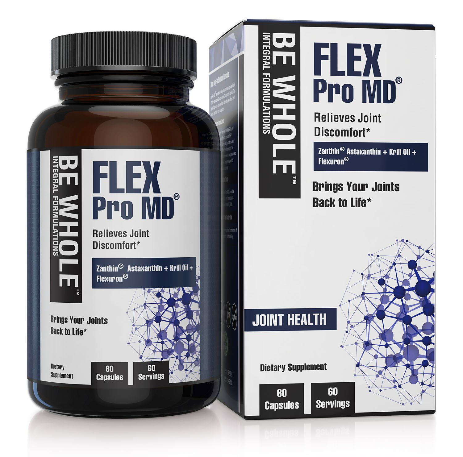 Flex Pro MD: Joint Pain Relief Supplement - Patented and Clinically Tested Formulation - 60 Capsules